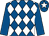 Royal blue and white diamonds, royal blue sleeves, white star on cap (Mr Ray Stokes)