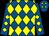 Royal blue and yellow diamonds (Mr R Martin)