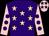Purple, pink stars, pink sleeves, purple spots, pink cap, purple stars (Jack Racing)
